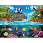 Puzzle  Master-Pieces-32112 XXL Pieces - Dolphin Ride