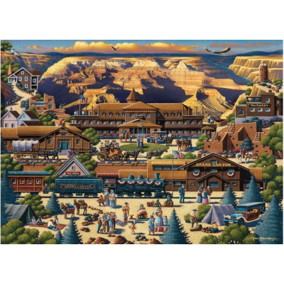 Master-Pieces-45118 Puzzle in Suitcase -Grand Canyon