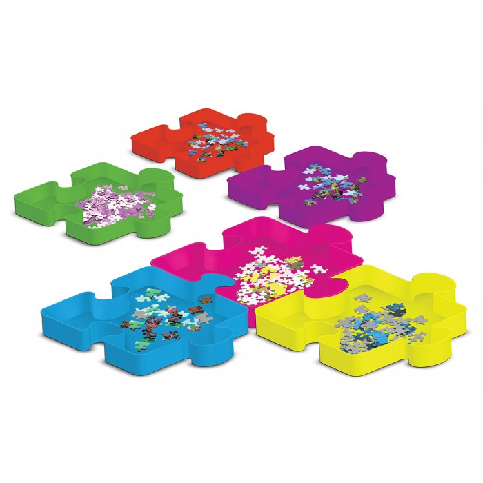 Sort & Save - 6 Puzzle Piece Trays