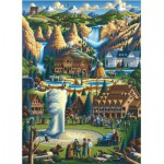 Master-Pieces-71171 Puzzle in Suitcase - Yellowstone