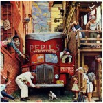 Puzzle  Master-Pieces-71367 Norman Rockwell: The blocked street