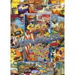 Master-Pieces-71661 Puzzle in Suitcase - See America