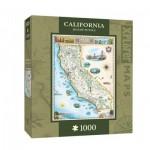 Puzzle  Master-Pieces-71706 Xplorer Maps - California