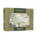 Puzzle  Master-Pieces-71708 Xplorer Maps - Montana