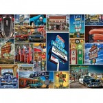 Master-Pieces-71772 Puzzle in Suitcase - Route 66