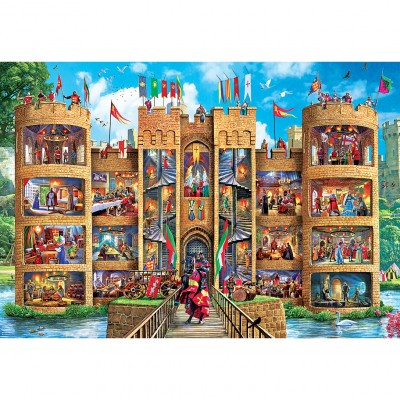 Puzzle Master-Pieces-71964 XXL Pieces - Medieval Castle