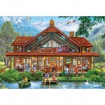 Puzzle  Master-Pieces-71965 XXL Pieces - Camping Lodge