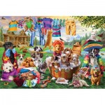 Puzzle  Master-Pieces-72043 XXL Pieces - Laundry Day Rascals