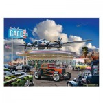 Puzzle  Master-Pieces-72078 Cruisin' Route 66 Bomber Command Café