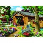 Puzzle  Master-Pieces-81740 Garden Bridge