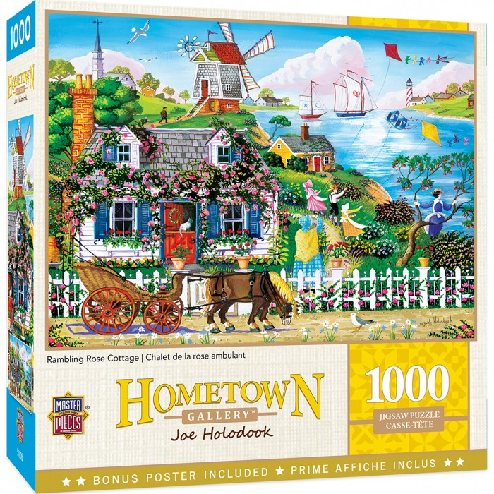 Rambling Rose Cottage Puzzle 1000 pieces
