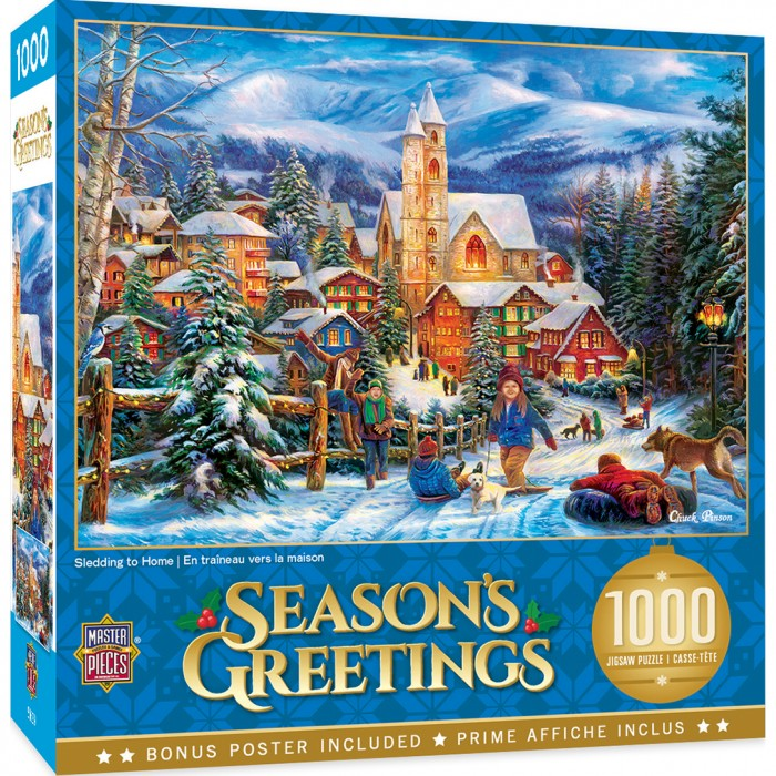 Sledding to Home Puzzle 1000 pieces