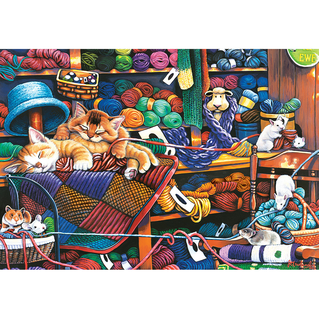 Puzzle Xxl Pieces Knittin Kittens Master Pieces 71827