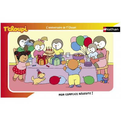 Nathan-86003 Jigsaw Puzzle - 15 Pieces - Charley and Mimmo's Birthday Cake