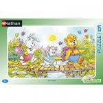 Nathan-86013 Jigsaw Puzzle - 15 Pieces - Teddy Bear : On the Bridge