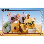 Nathan-86028 Jigsaw Puzzle - 15 Pieces - The Koalas Brothers and their friends