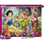 Nathan-86079 Jigsaw Puzzle - 35 Pieces - Snow White surrounded by Flowers