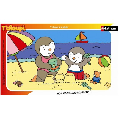 Nathan-86096 Frame Puzzle - 15 Pieces - Charley and Mimmo : Charley at the Beach