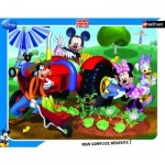Nathan-86101 Frame Puzzle - 35 Pieces - Mickey : Mickey and his Friends in the Garden