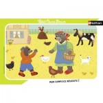 Nathan-86133 Frame Puzzle - Little Brown Bear