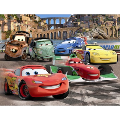 Nathan-86310 Frame Puzzle - 30 Pieces - Cars 2 : Lightning McQueen's Friends