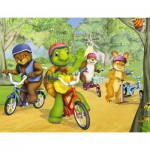 Nathan-86312 Jigsaw Puzzle - 30 Pieces - Franklin : Bike Ride