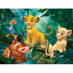 Nathan-86313 Frame Puzzle - 30 Pieces - The Lion King : Simba and Friends