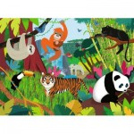 Puzzle  Nathan-86469 XXL Pieces - Jungle Animals