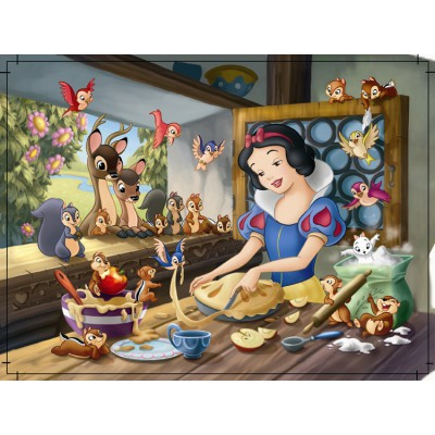 Nathan-86554 Jigsaw Puzzle - 60 Pieces - Snow White making a Cake