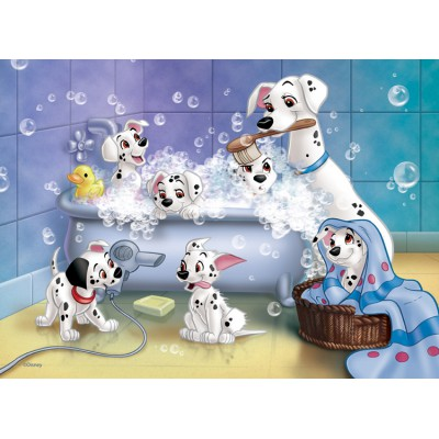 Nathan-86612 Jigsaw Puzzle - 60 Pieces - The 101 Dalmatians : The Bath