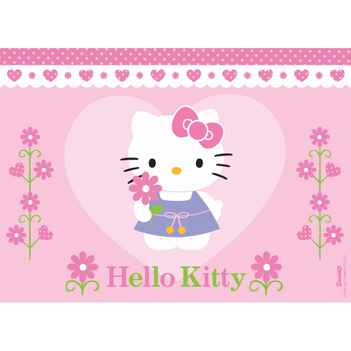 Jigsaw Puzzle - 100 Pieces - A Flower for Hello Kitty