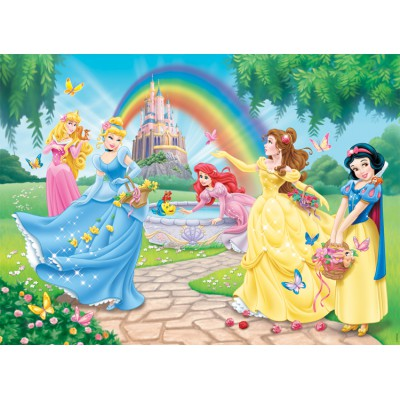 Nathan-86708 Frame Puzzle - 100 Pieces - XXL - Disney Princess : The Princesses' Garden