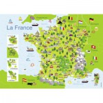 Puzzle  Nathan-86732 Map of France