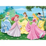 Nathan-86844 Jigsaw Puzzle - 150 Pieces - Large - Disney Princess : Princess and their Princes