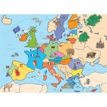 Nathan-86934 Jigsaw Puzzle - 250 Pieces - Map of Europe