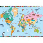 Nathan-86935 Jigsaw Puzzle - 250 Pieces - World Map