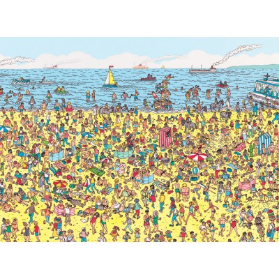 Nathan-86947 Jigsaw Puzzle - 250 Pieces - Maxi - Where's Wally ? : Wally at the Beach