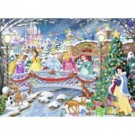 Puzzle  Nathan-87151 Christmas with the Disney Princesses