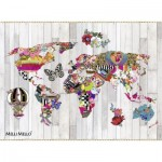 Puzzle  Nathan-87204 Baroque World Map