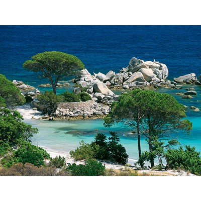 Nathan-87459 Jigsaw Puzzle - 1000 Pieces - Corsica : Palombaggia Beach