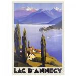 Puzzle  Nathan-87557 Lac d'Annecy Vintage