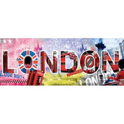 Nathan-87610 Jigsaw Puzzle - 1000 Pieces - Panoramic : London Script
