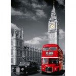 Nathan-87735 Jigsaw Puzzle - 1500 Pieces - Red Bus in London