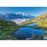 Puzzle  Nathan-87806 Lac des Chéserys, Massif du Mont Blanc