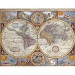 Nathan-87870 Jigsaw Puzzle - 2000 Pieces - Antique World Map