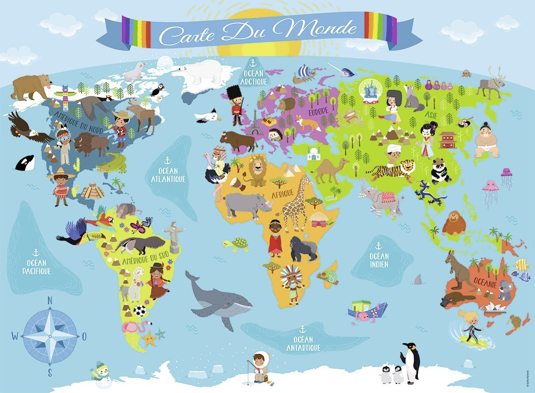 Puzzle xx pieces world map in french nathan 86806 150 pieces xx pieces world map in french gumiabroncs Gallery
