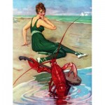 Puzzle   Vintage Images - Lobster Serenade