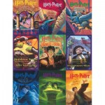 Puzzle   XXL Pieces - Harry Potter - Book Cover Collage