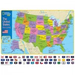 Puzzle  New-York-Puzzle-NG1710 XXL Pieces - The USA and Its Flags