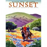 Puzzle  New-York-Puzzle-SU2006 XXL Pieces - Sunset - Horses in The Hills